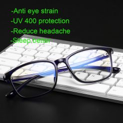 Classic Nerd Blue Light Blocking Tinted Computer Gaming Glasses LH01