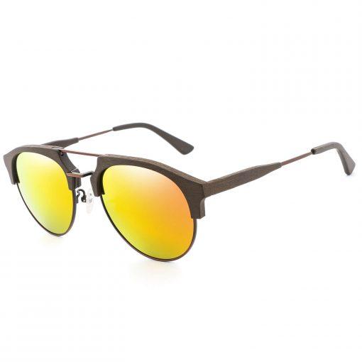 Wood Aviator Polarized Sunglasses for Women Men BC04