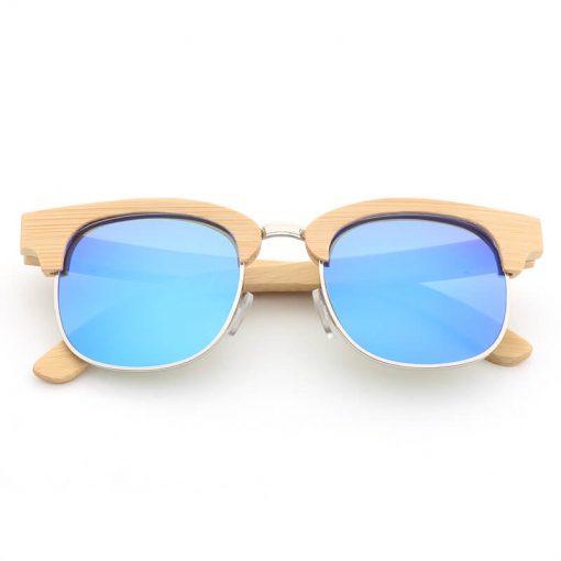 bamboo frame sunglasses
