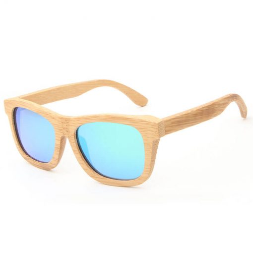 Classic Bamboo Frame Sunglasses Polarized Lenses for Women Men
