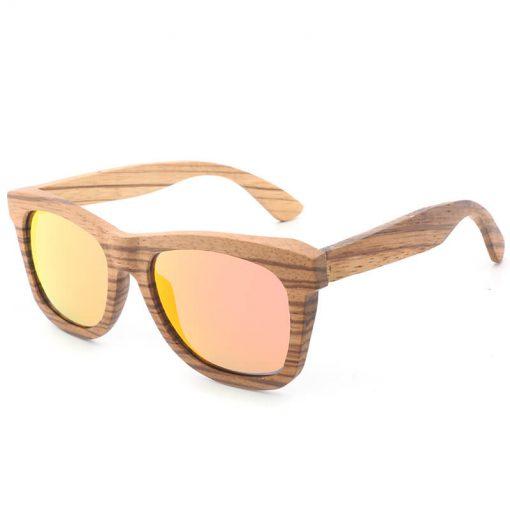 Classic Handmade Wood Grain Sunglasses Polarized Lenses for Women Men BA78