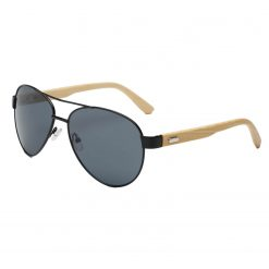 Classic Bamboo Aviator Sunglasses Polarized Lenses for Women Men