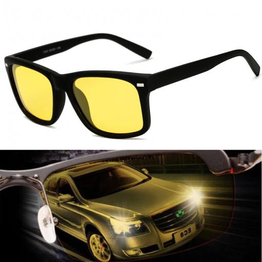 Men's Night Vision Glasses for Driving Anti-Glare Polarized Lens