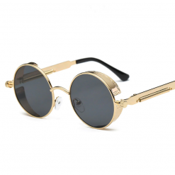 Steampunk Round Sunglasses for Men Women Fashion Brand Designer Retro Vintage Sun glasses Quality UV400